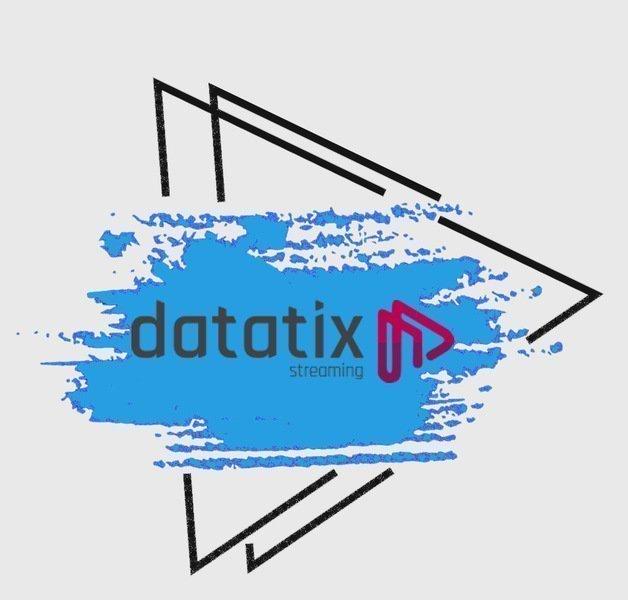 """Desenho do ícone """"play"""" para representar a plataforma de vídeo streaming Datatix."""